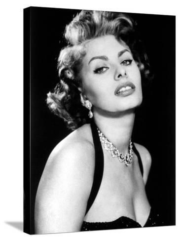 Sultry Sophia Loren Publicity Pose Promotion for Pride and the Passion, 1957--Stretched Canvas Print