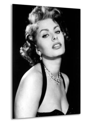 Sultry Sophia Loren Publicity Pose Promotion for Pride and the Passion, 1957--Metal Print