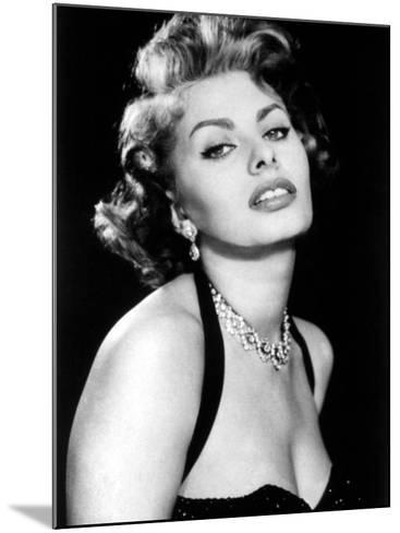 Sultry Sophia Loren Publicity Pose Promotion for Pride and the Passion, 1957--Mounted Photo
