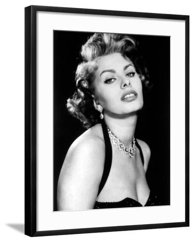 Sultry Sophia Loren Publicity Pose Promotion for Pride and the Passion, 1957--Framed Art Print
