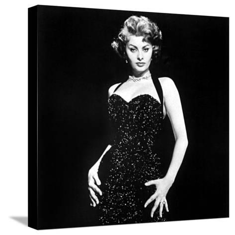 Publicity Shot of Sophia Loren Used to Promote Pride and the Passion, 1957--Stretched Canvas Print
