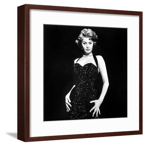 Publicity Shot of Sophia Loren Used to Promote Pride and the Passion, 1957--Framed Art Print