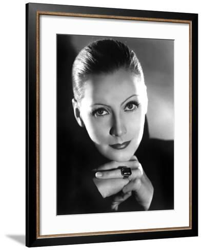 Portrait of Mata Hari, Greta Garbo, 1931--Framed Art Print