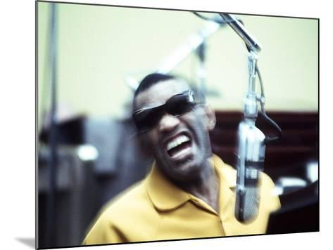 Ray Charles in the Recording Studio--Mounted Photo