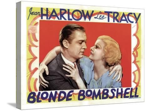 Blonde Bombshell, Lee Tracy, Jean Harlow 1933--Stretched Canvas Print