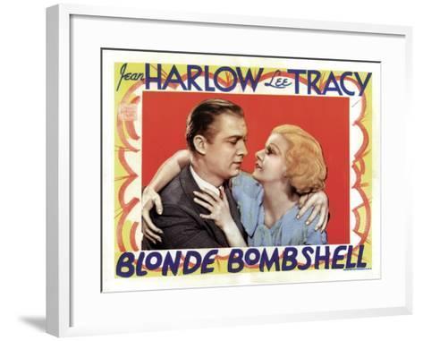 Blonde Bombshell, Lee Tracy, Jean Harlow 1933--Framed Art Print