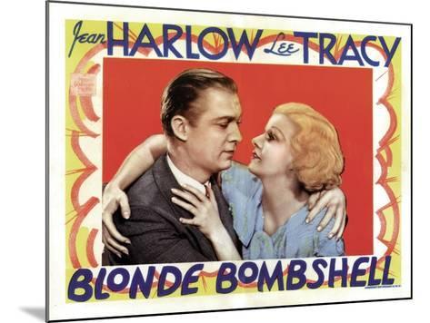 Blonde Bombshell, Lee Tracy, Jean Harlow 1933--Mounted Photo
