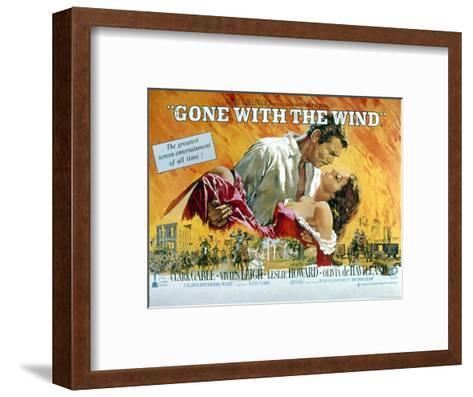 Gone with the Wind, Clark Gable, Vivien Leigh, 1939--Framed Art Print