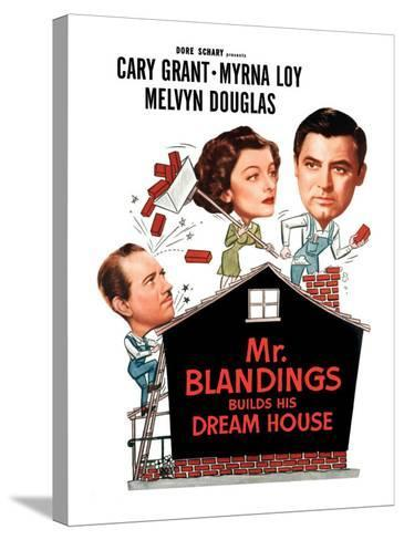 Mr. Blandings Builds His Dream House, Melvyn Douglas, Myrna Loy, Cary Grant, 1948--Stretched Canvas Print