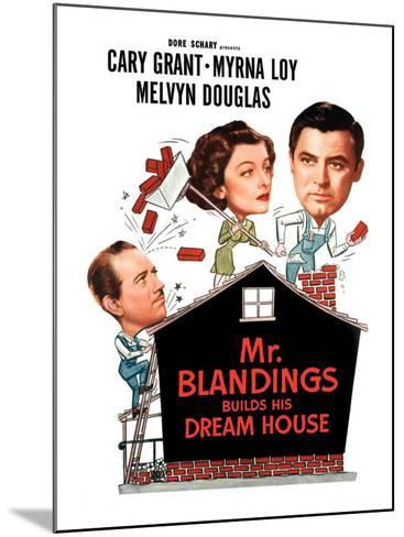 Mr. Blandings Builds His Dream House, Melvyn Douglas, Myrna Loy, Cary Grant, 1948--Mounted Photo