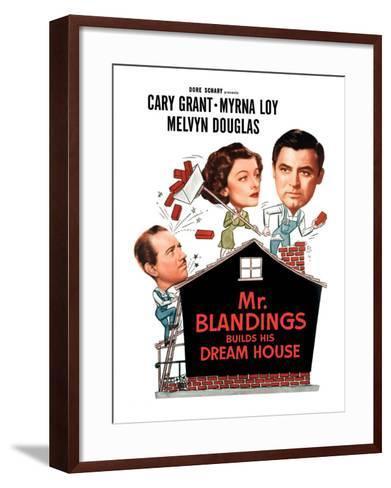Mr. Blandings Builds His Dream House, Melvyn Douglas, Myrna Loy, Cary Grant, 1948--Framed Art Print