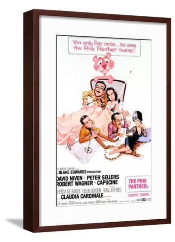 The Pink Panther, Peter Sellers, Robert Wagner, Capucine, David Niven, Claudia Cardinale, 1963--Framed Art Print