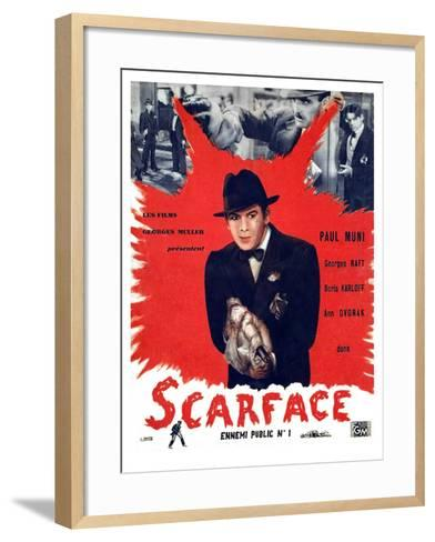 Scarface, Paul Muni, 1932--Framed Art Print