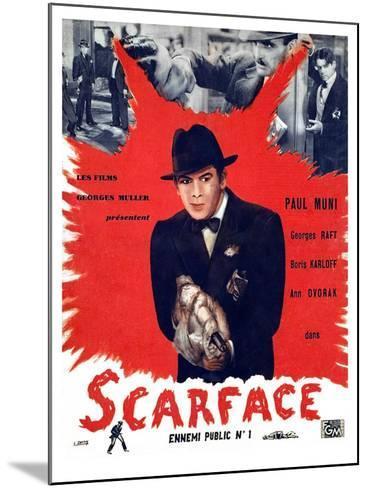 Scarface, Paul Muni, 1932--Mounted Photo