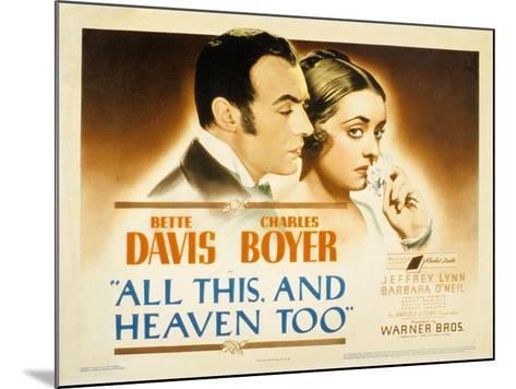 All This and Heaven Too, Charles Boyer, Bette Davis, 1940--Mounted Photo