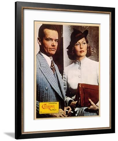 Chinatown, Jack Nicholson, Faye Dunaway, 1974--Framed Art Print
