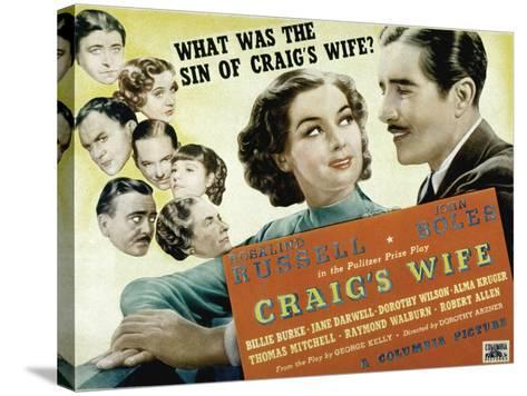 Craig's Wife, with Jane Darwell, Billie Burke, Thomas Mitchell, and Robert Allen, 1936--Stretched Canvas Print