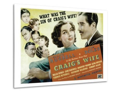 Craig's Wife, with Jane Darwell, Billie Burke, Thomas Mitchell, and Robert Allen, 1936--Metal Print