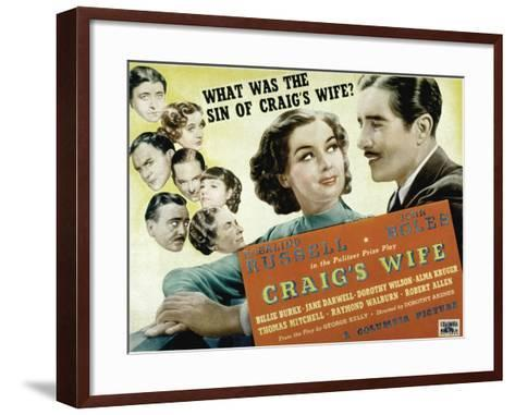 Craig's Wife, with Jane Darwell, Billie Burke, Thomas Mitchell, and Robert Allen, 1936--Framed Art Print