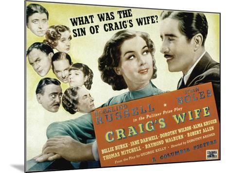 Craig's Wife, with Jane Darwell, Billie Burke, Thomas Mitchell, and Robert Allen, 1936--Mounted Photo