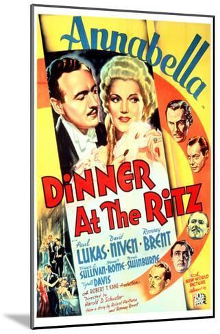 Dinner at the Ritz, David Niven, Annabella, 1937--Mounted Photo