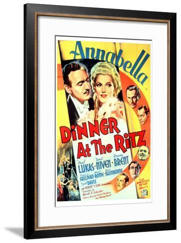 Dinner at the Ritz, David Niven, Annabella, 1937--Framed Art Print