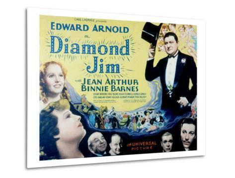 Diamond Jim, Edward Arnold, Jean Arthur, Binnie Barnes, Cesar Romero, Eric Blore, George Sidney--Metal Print