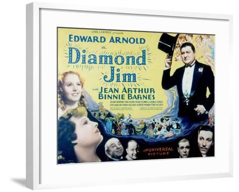 Diamond Jim, Edward Arnold, Jean Arthur, Binnie Barnes, Cesar Romero, Eric Blore, George Sidney--Framed Art Print