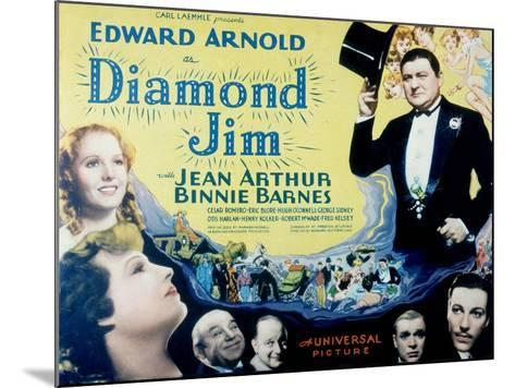 Diamond Jim, Edward Arnold, Jean Arthur, Binnie Barnes, Cesar Romero, Eric Blore, George Sidney--Mounted Photo