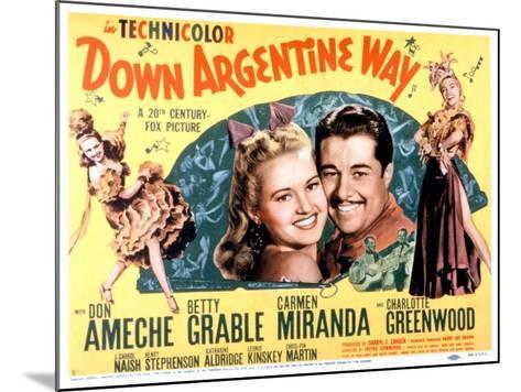Down Argentine Way, Betty Grable, Don Ameche, Carmen Miranda, 1940--Mounted Photo