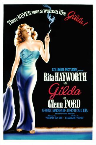Gilda, Rita Hayworth, 1946--Stretched Canvas Print