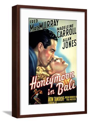 Honeymoon in Bali, Fred MacMurray, Madeleine Carroll, 1939--Framed Art Print