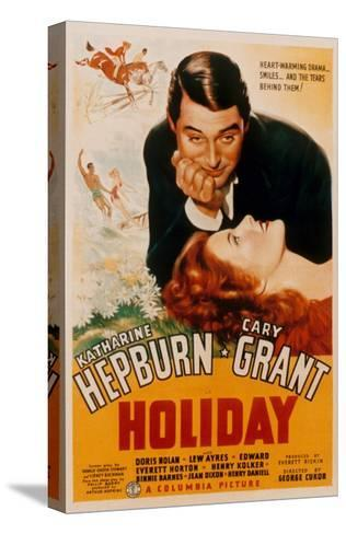 Holiday, Cary Grant, Katharine Hepburn, 1938--Stretched Canvas Print
