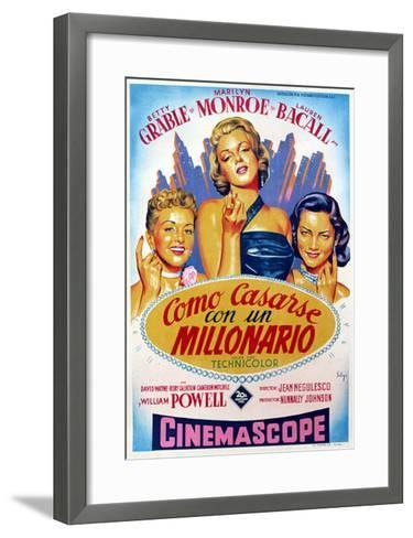 How to Marry a Millionaire, Betty Grable, Marilyn Monroe, Lauren Bacall, 1953--Framed Art Print