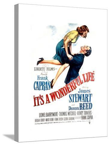 It's a Wonderful Life, Donna Reed, James Stewart, 1946--Stretched Canvas Print