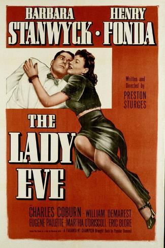 The Lady Eve, Henry Fonda, Barbara Stanwyck, 1941--Stretched Canvas Print
