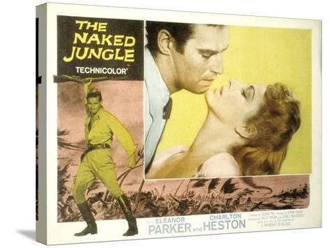 The Naked Jungle, Charlton Heston, Eleanor Parker, 1954--Stretched Canvas Print