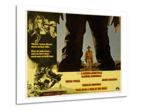 Once Upon a Time in the West, Charles Bronson, 1968--Metal Print