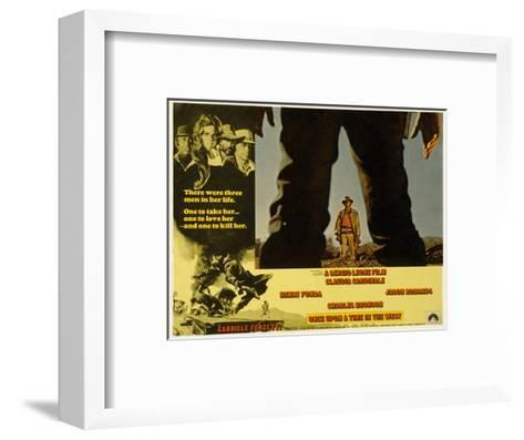 Once Upon a Time in the West, Charles Bronson, 1968--Framed Art Print
