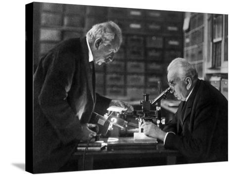 The Lumiere Brothers, Louis Jean Lumiere, Auguste Lumiere--Stretched Canvas Print