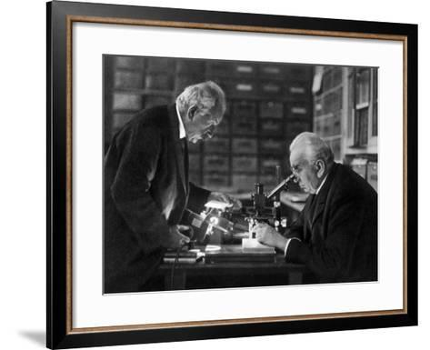 The Lumiere Brothers, Louis Jean Lumiere, Auguste Lumiere--Framed Art Print