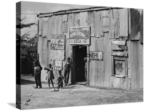 African American Juke Joint-Marion Post Wolcott-Stretched Canvas Print