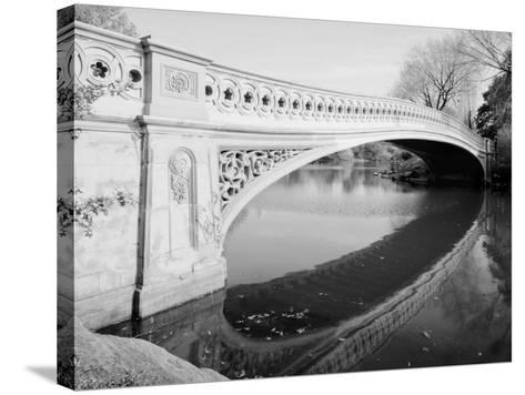 New York City, Central Park's Bow Bridge, View Looking Southeast of West Side of Bridge, 1980s--Stretched Canvas Print