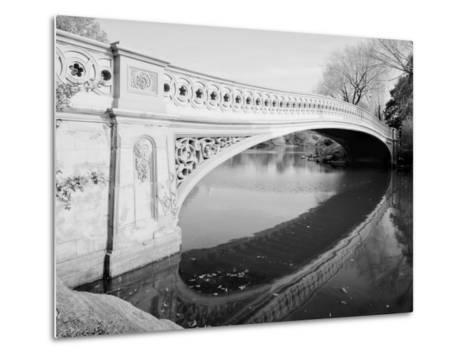 New York City, Central Park's Bow Bridge, View Looking Southeast of West Side of Bridge, 1980s--Metal Print