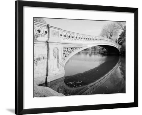New York City, Central Park's Bow Bridge, View Looking Southeast of West Side of Bridge, 1980s--Framed Art Print