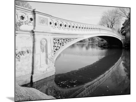 New York City, Central Park's Bow Bridge, View Looking Southeast of West Side of Bridge, 1980s--Mounted Photo
