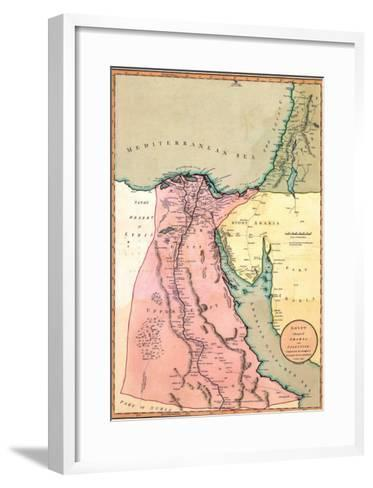 1803 Map of Egypt, with Part of Arabia and Palestine--Framed Art Print