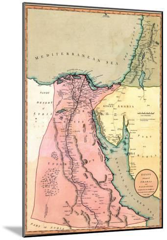 1803 Map of Egypt, with Part of Arabia and Palestine--Mounted Photo