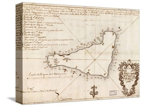 1803 Map of Easter Island--Stretched Canvas Print