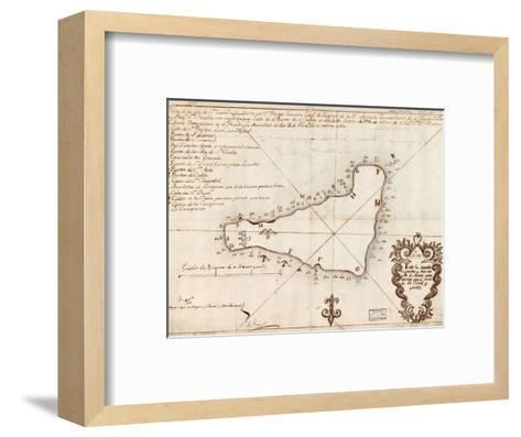 1803 Map of Easter Island--Framed Art Print